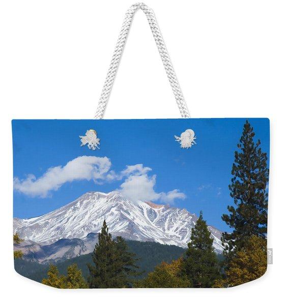 Mount Shasta California Weekender Tote Bag