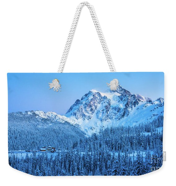 Mount Shuksan Winter Tranquility Weekender Tote Bag
