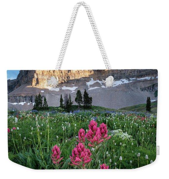 Mount Timpanogos Wildflowers Weekender Tote Bag