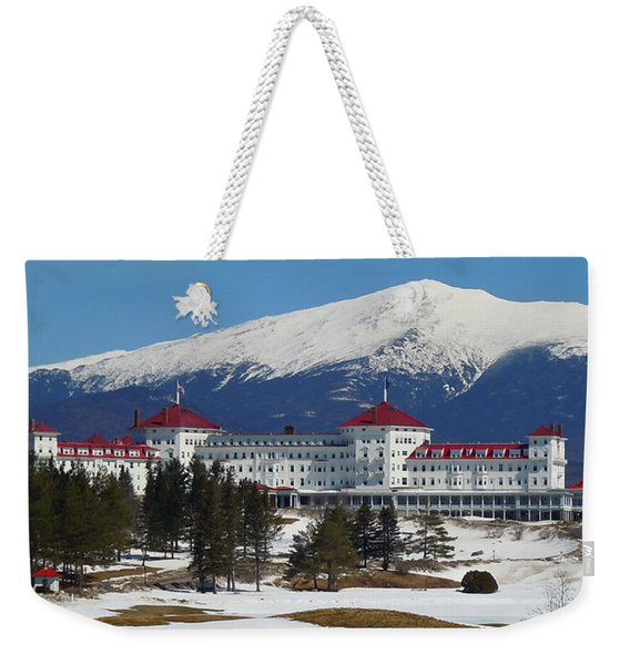 Mount Washington Hotel In Early Spring Weekender Tote Bag