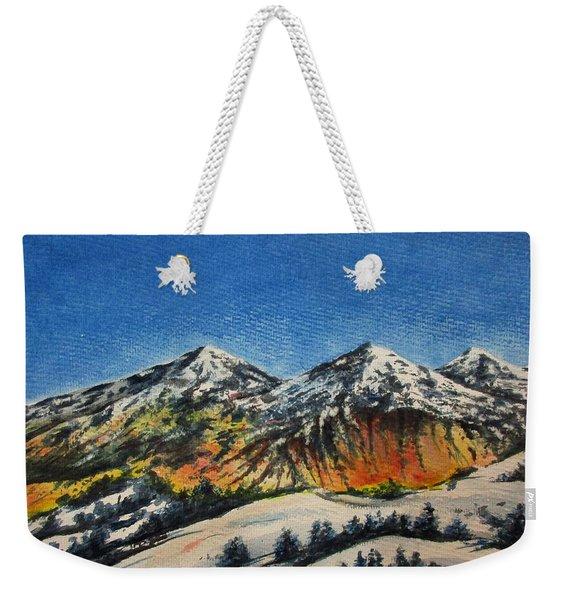Mountain-5 Weekender Tote Bag