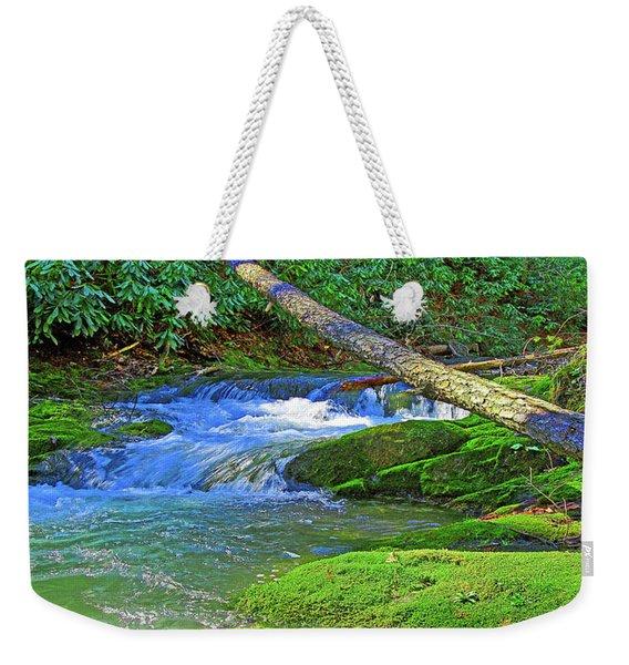 Mountain Appalachian Stream Weekender Tote Bag
