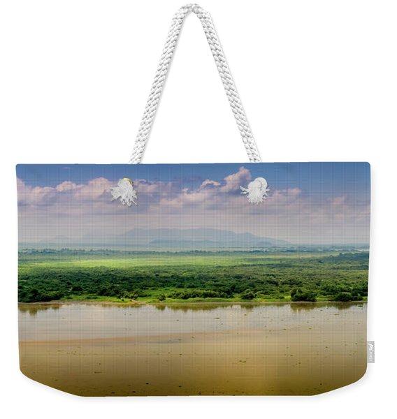 Mountain Beyond The River Weekender Tote Bag