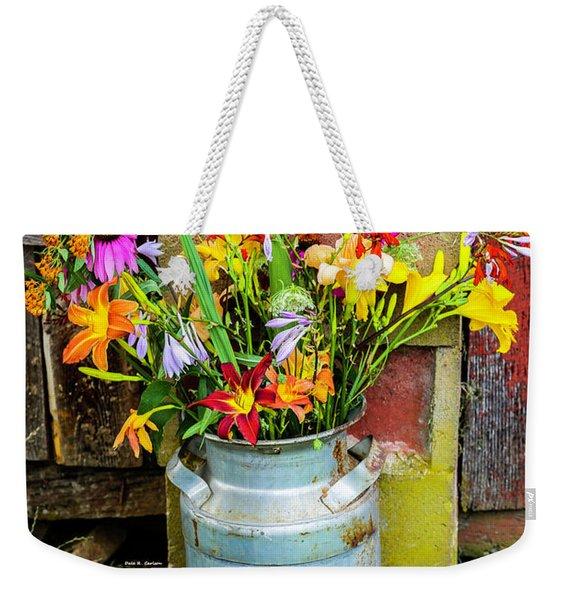 Mountain Bouquet Weekender Tote Bag
