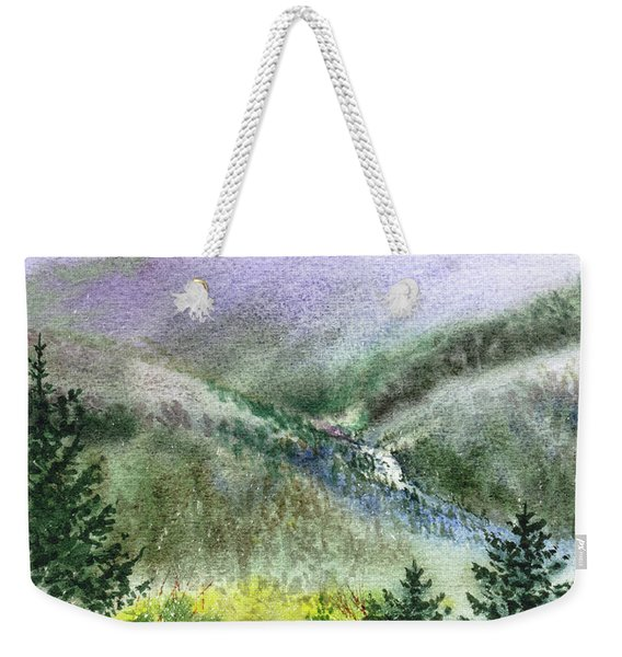 Mountain Creek And Baby Redwood Trees Weekender Tote Bag