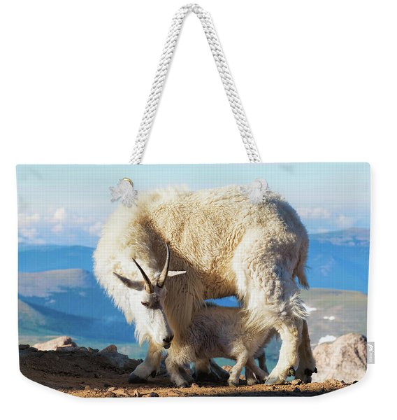 Mountain Goats Nanny And Kid Weekender Tote Bag