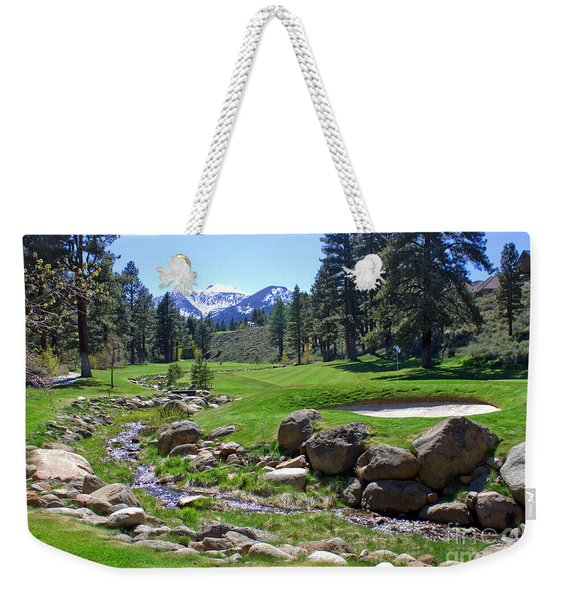 Mountain Golf Course Weekender Tote Bag