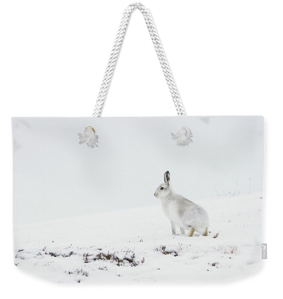 Mountain Hare Side On Weekender Tote Bag