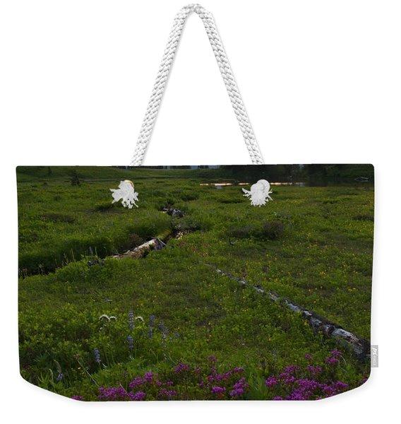 Mountain Heather Sunset Weekender Tote Bag