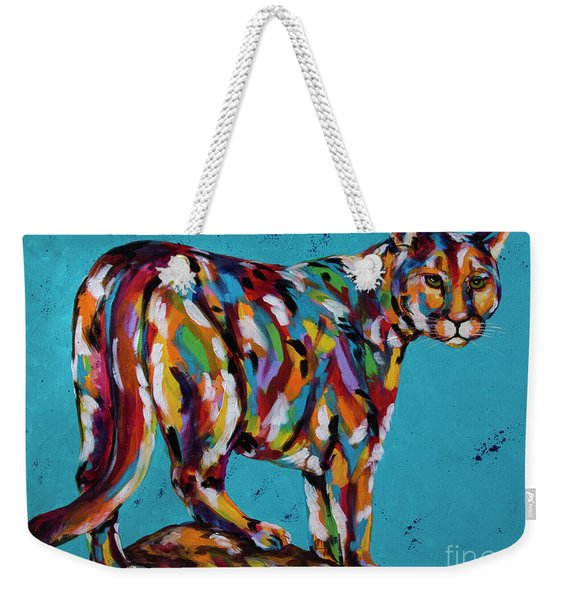 Mountain High Lion Weekender Tote Bag