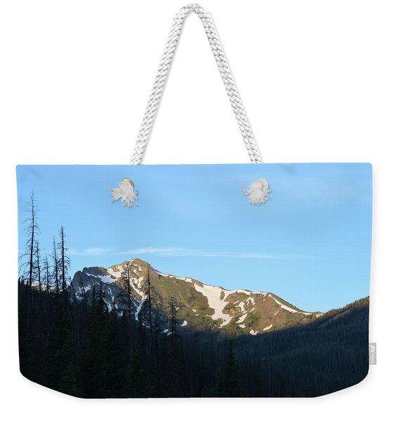 Weekender Tote Bag featuring the photograph Mountain In Rocky Mountian Np Co by Margarethe Binkley