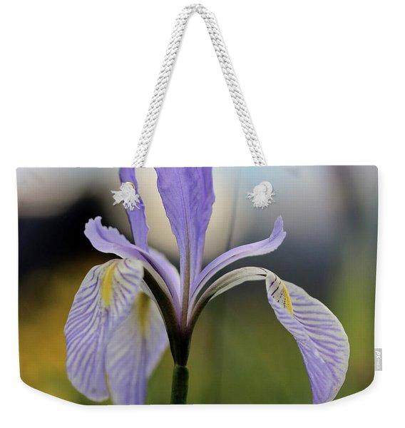 Mountain Iris With Bud Weekender Tote Bag