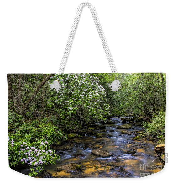 Mountain Laurels Light Up Panther Creek Weekender Tote Bag