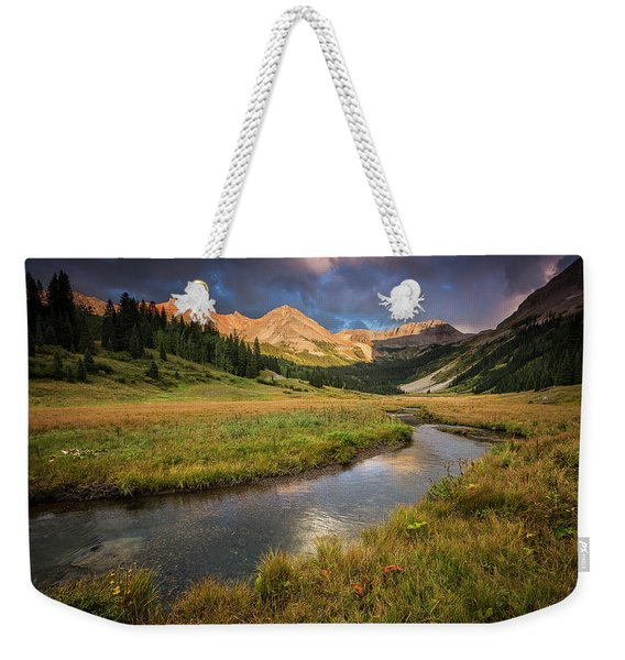 Mountain Light Weekender Tote Bag
