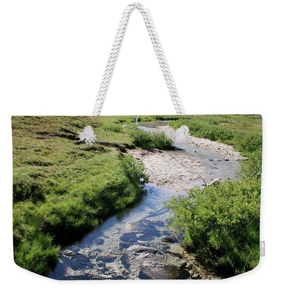 Mountain Meadow And Stream Weekender Tote Bag