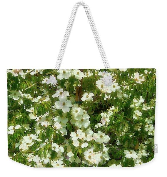 Mountain Moon Dogwood Flowers Weekender Tote Bag