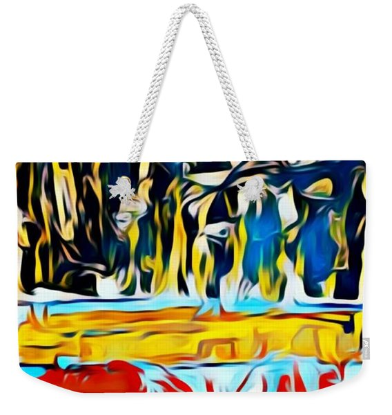 Mountain Of Many Faces Weekender Tote Bag
