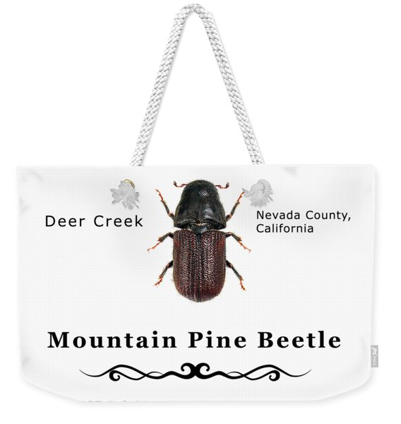 Mountain Pine Beetle Color Weekender Tote Bag
