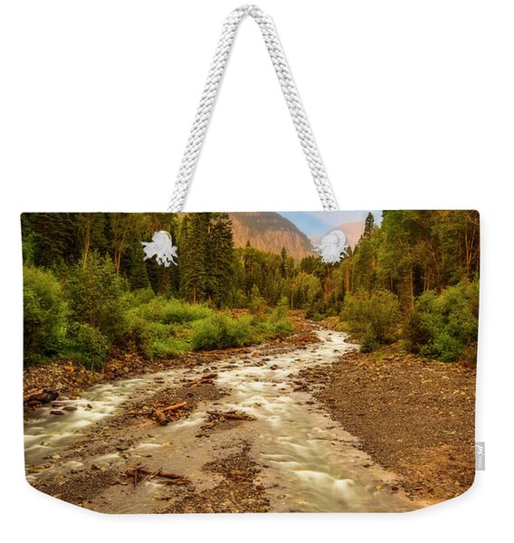Mountain Rainbow Weekender Tote Bag