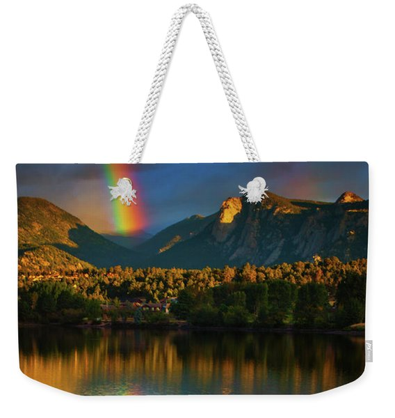 Weekender Tote Bag featuring the photograph Mountain Rainbows by John De Bord