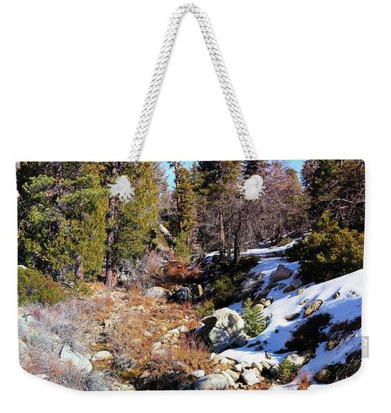 Mountain Scene Weekender Tote Bag
