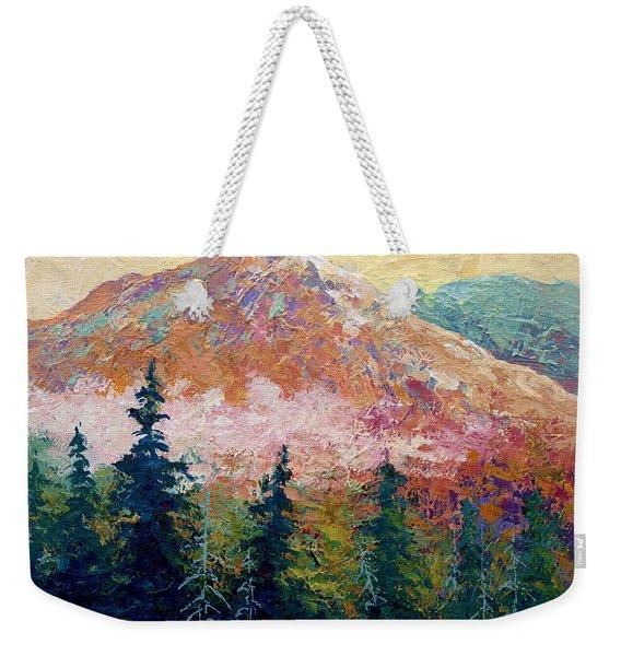 Mountain Sentinel Weekender Tote Bag