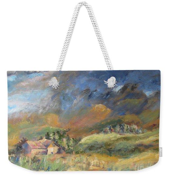 Mountain Storm Weekender Tote Bag