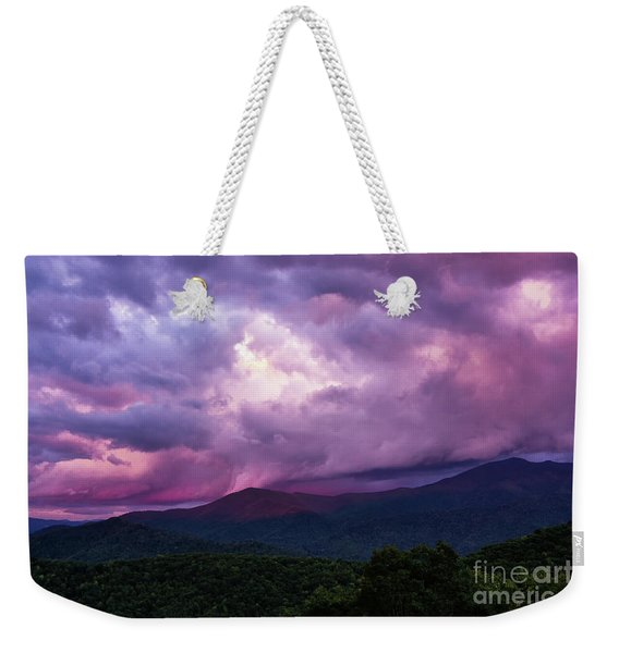 Mountain Sunset In The East Weekender Tote Bag