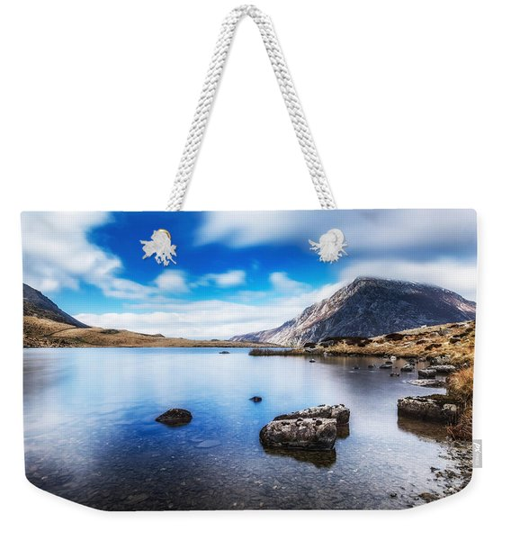 Weekender Tote Bag featuring the photograph Mountain View by Nick Bywater