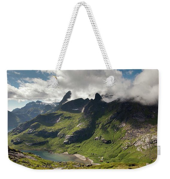 Mountain With Horns From Brunakseltind Weekender Tote Bag