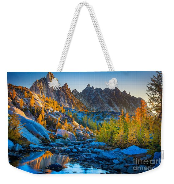 Mountainous Paradise Weekender Tote Bag