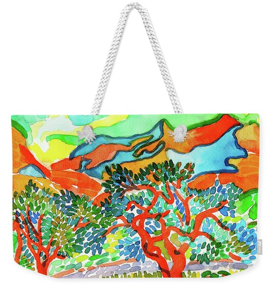 Mountains At Collioure Weekender Tote Bag