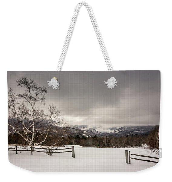 Mountains In Winter Weekender Tote Bag