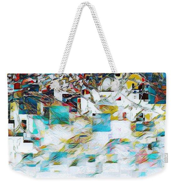 Snowy Mountains Weekender Tote Bag