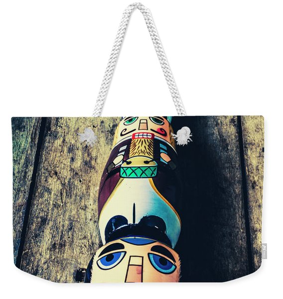 Moustache Men Weekender Tote Bag