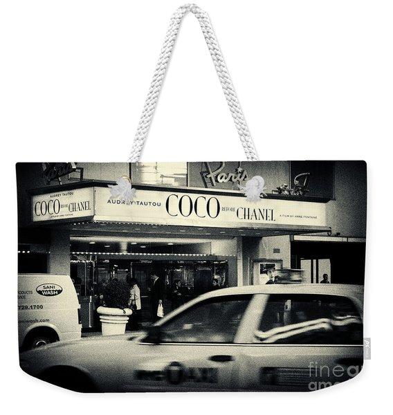 Movie Theatre Paris In New York City Weekender Tote Bag