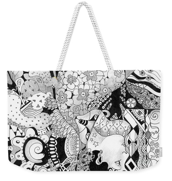 Moving In Circles - The Other Way Around Weekender Tote Bag