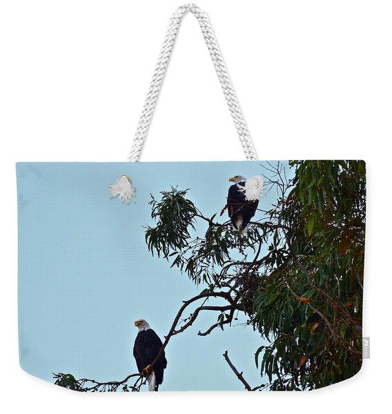 Mr. And Mrs. Bald Weekender Tote Bag