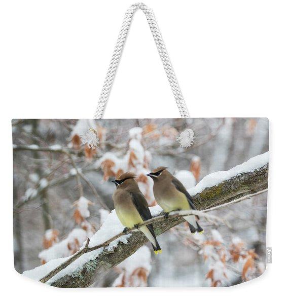 Mr. And Mrs. Cedar Wax Wing Weekender Tote Bag
