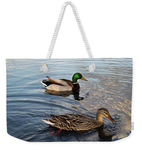 Mr And Mrs Duck On Parade Weekender Tote Bag