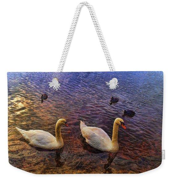 Mr And Mrs Swan Go Viisiting Weekender Tote Bag