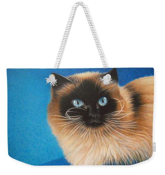 Mr. Blue Weekender Tote Bag