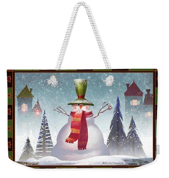 Mr. Snowman Weekender Tote Bag
