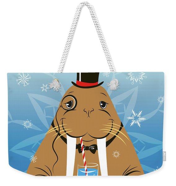 Mr. Walrus Weekender Tote Bag
