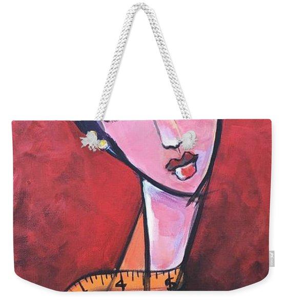 Ms. Bimba Fashionable Seamstress Weekender Tote Bag