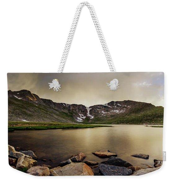 Mt. Evans Summit Lake Weekender Tote Bag