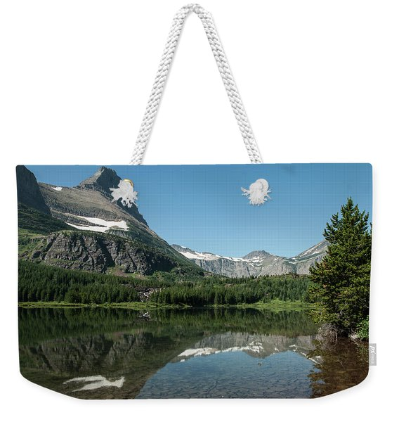 Mt. Grinnell Across Red Rock Lake Glacier National Park Weekender Tote Bag