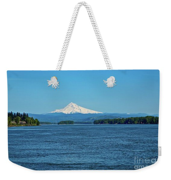 Mt. Hood Above The Columbia River Weekender Tote Bag