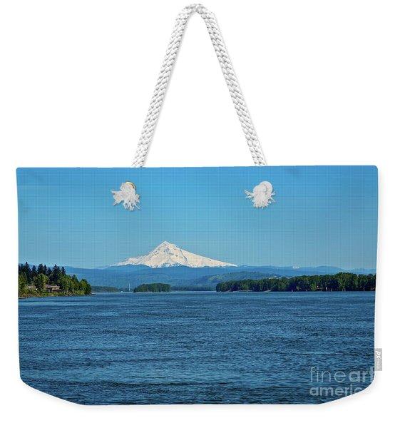 Mt. Hood Above The Columbia River Weekender Tote Bag