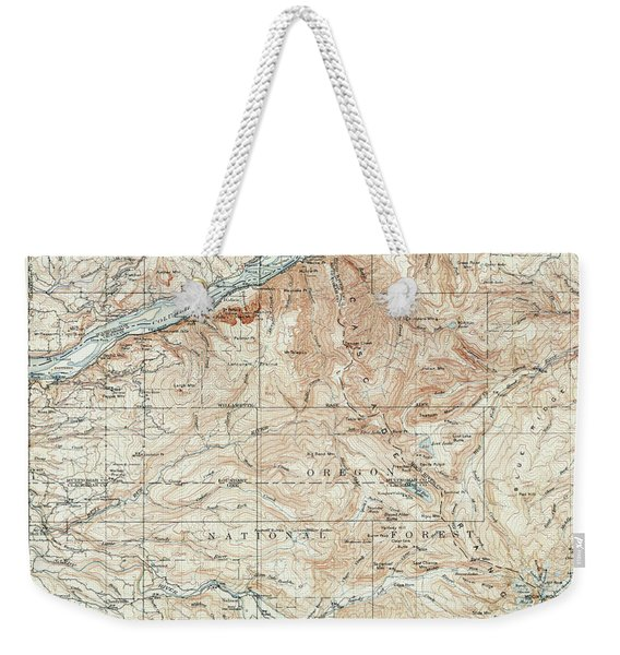 Mt. Hood And Environs Topographic Map  1911 Weekender Tote Bag